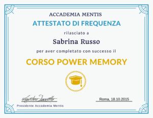 Corso Gratis Tecniche Memorizzazione